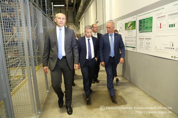 """Предприятие Schaeffler в индустриальном парке """"Залесье"""" посетил губернатор Ульяновской области"""